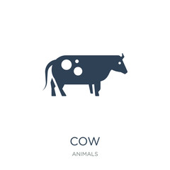 cow icon vector on white background, cow trendy filled icons fro