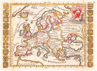 1706, De La Feuille Map of Europe
