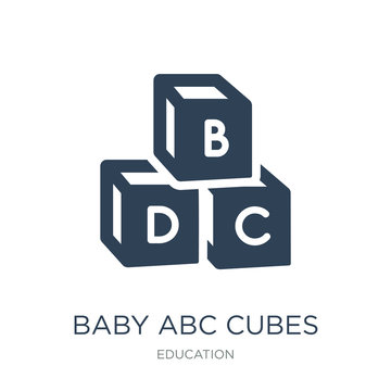 baby abc cubes icon vector on white background, baby abc cubes t