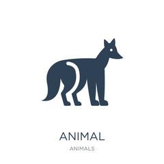 animal icon vector on white background, animal trendy filled ico