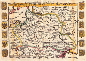 1747, La Feuille Map of Poland