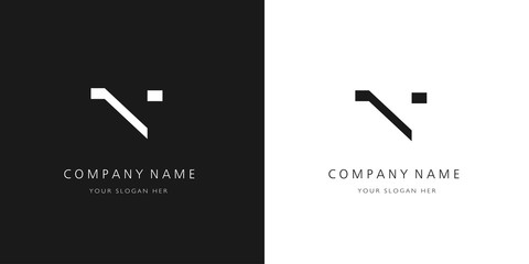 n logo letter design