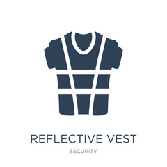 reflective vest icon vector on white background, reflective vest trendy filled icons from Security collection, reflective vest vector illustration