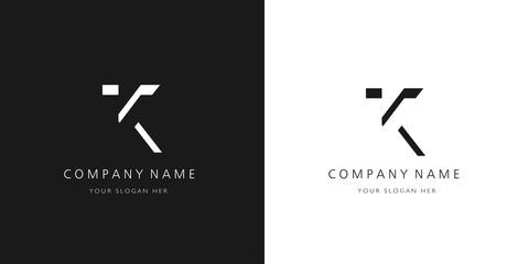k logo letter design