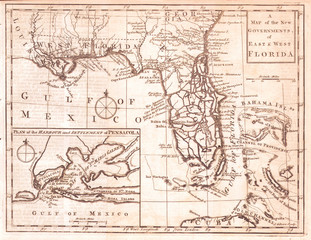 1763, Gibson Map of East and West Florida