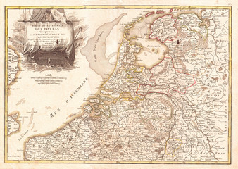 1775, Janvier Map of Holland and Belgium