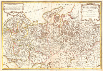 1775, Janvier Map of Western Russia
