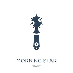 morning star icon vector on white background, morning star trendy filled icons from Shapes collection, morning star vector illustration