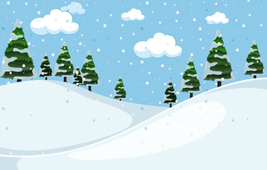 A white winter background