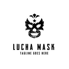 Lucha Mask Logo concept. Creative Minimal design template. Symbol for Corporate Business Identity. Creative Vector element