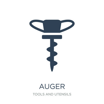 auger icon vector on white background, auger trendy filled icons from Tools and utensils collection, auger vector illustration