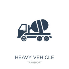 heavy vehicle icon vector on white background, heavy vehicle trendy filled icons from Transport collection, heavy vehicle vector illustration