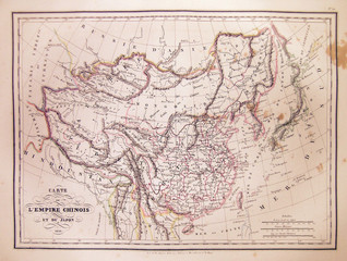 1837, Malte-Brun Map of China and Japan