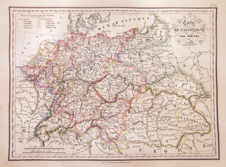 1837, Malte-Brun Map of Germany