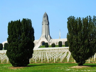 Cemetery outside of the Douaumont ossuary near Verdun, France,2007