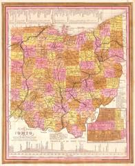 1846, Burroughs, Mitchell Map of Ohio