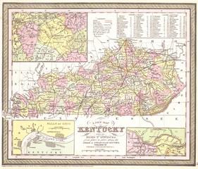 1850, Cowperthwait Map of Kentucky