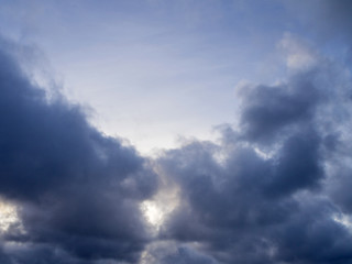blue sky white clouds as background