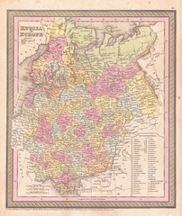 1853, Mitchell Map of Russia