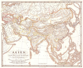 1855, Spruner Map of Asia in the 9th and 10th Centuries