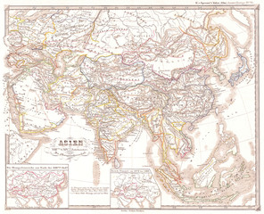 1855, Spruner Map of Asia under the Mongol Empire