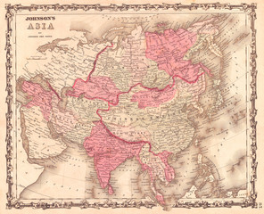1862, Johnson Map of Asia
