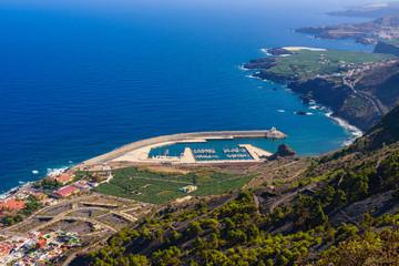 Stunning coast near the town of Garachico.  Tenerife. Canary Islands..Spain