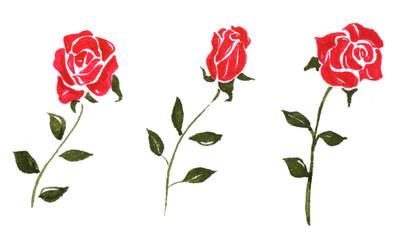 薔薇のイラスト 赤色