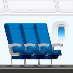 An airplane seat layout