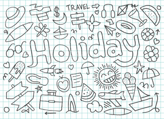 Set of Holiday doodles
