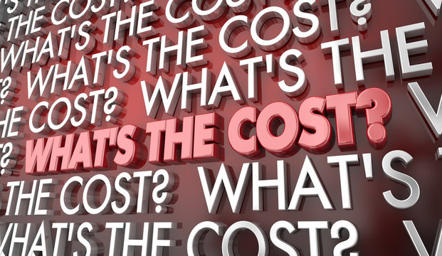 Whats the Cost Price Money Words 3d Illustration