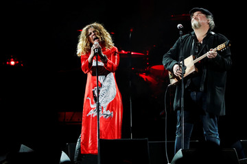 Nikka Costa and Alain Johannes perform during the I Am The Highway: A Tribute to Chris Cornell concert at The Forum in Inglewood, California