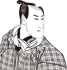 浮世絵 歌舞伎役者 その12 白黒