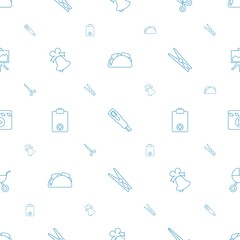 clip icons pattern seamless white background
