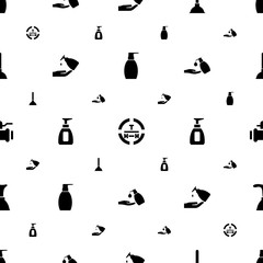 pump icons pattern seamless white background