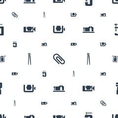 clamp icons pattern seamless white background