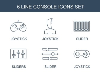 6 console icons