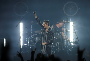 Perry Farrell performs during the I Am The Highway: A Tribute to Chris Cornell concert at The Forum in Inglewood