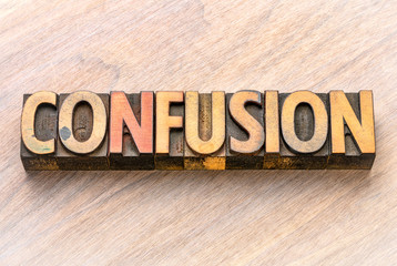 confusion word in wood type