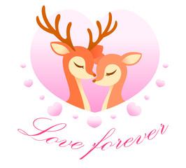 lover deer pink heart