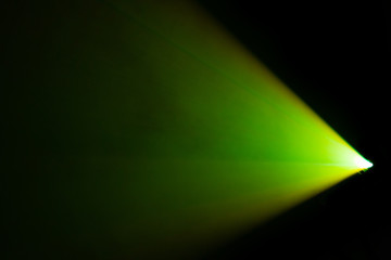 beautiful green color wide lens projector spotlight . smoke abstract texture background . screening for multimedia ,