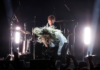 Miley Cyrus performs during the I Am The Highway: A Tribute to Chris Cornell concert at The Forum in Inglewood