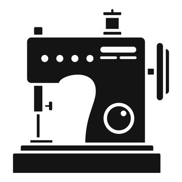 Small sew machine icon. Simple illustration of small sew machine vector icon for web design isolated on white background
