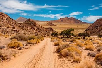 Namibia road landscape