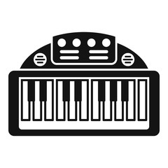 Piano toy icon. Simple illustration of piano toy vector icon for web design isolated on white background