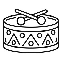 Drums toy icon. Outline drums toy vector icon for web design isolated on white background