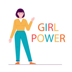 Illustration Girl Power