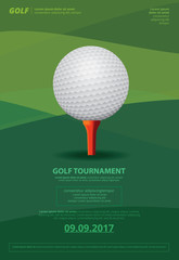 Poster Golf Championship Vector Illustration