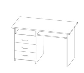 table writing contour