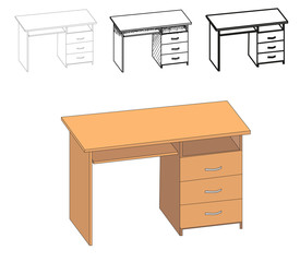 vector, isolated table, table outfit